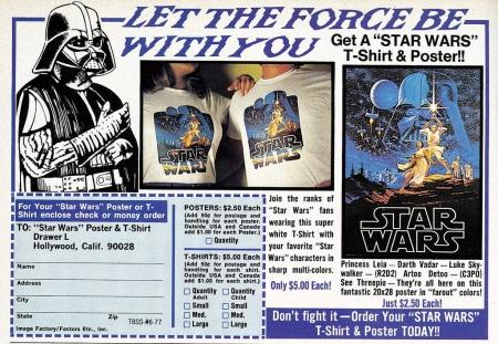 vintage star wars ads