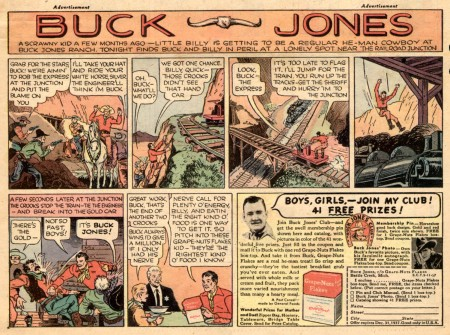 Buck Jones vintage ad